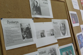 """Galeria """"Sławni Polacy"""" projekt edukacyjno - czytelniczy w klasie VII"""