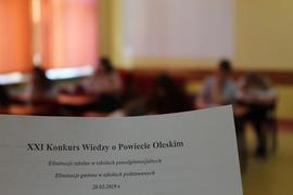 Galeria XXI Konkurs Wiedzy o Powiecie Oleskim 28.02.2019 r.