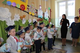 Galeria Spotkanie Pan Anny Sekiendy z pierwszoklasistami