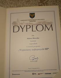"""Galeria Uroczystość wręczenia dyplomów w ramach programu """"Wspieramy najlepszych III"""""""